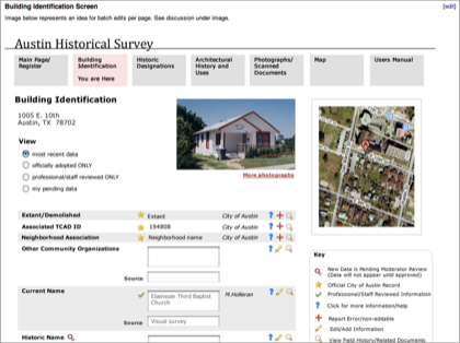 Preview image for Austin Historical Survey Web Tool project