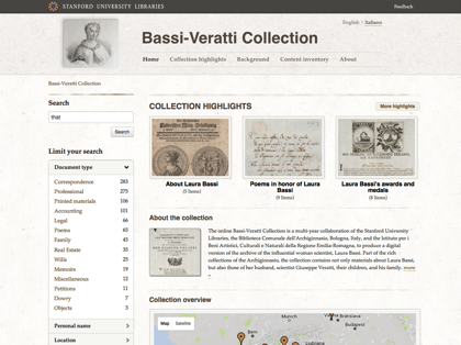 Preview image for Bassi-Veratti Collection project