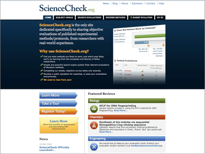 Preview image for ScienceCheck project